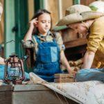 kindergeburtstag draussen schatzsuche